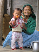 Chintang grandmother with child